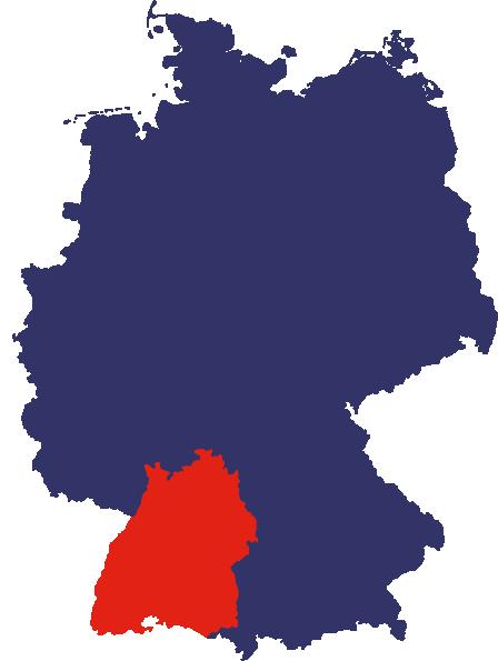 Bundesrepublik Deutschland mit Baden-Württemberg
