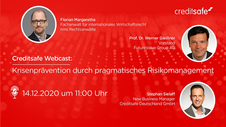 """Webcast """"Krisenprävention durch pragmatisches Risikomanagement"""""""