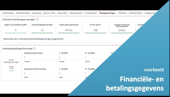 Financiële- en betalingsgegevens