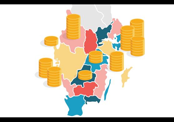Lönligan kommuner
