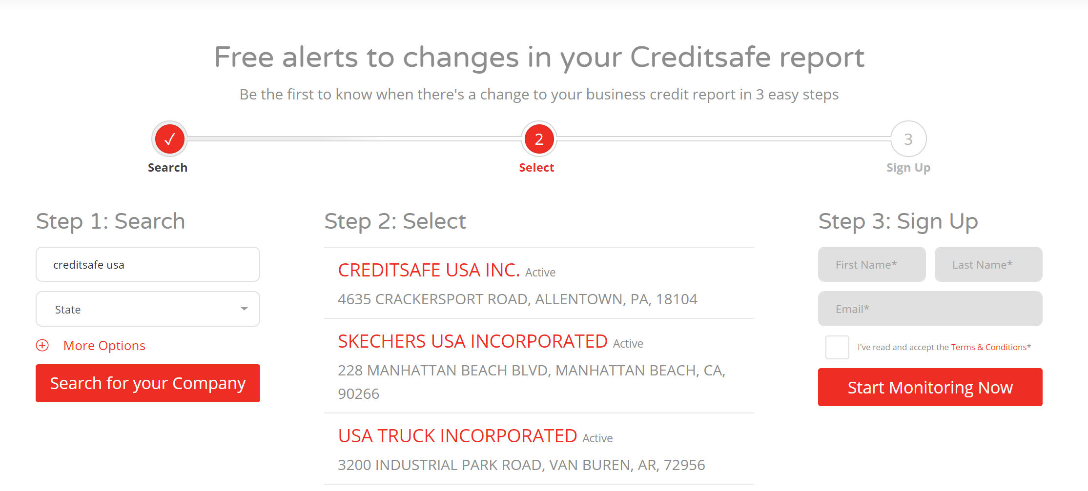 Start Monitoring your business credit today